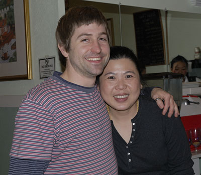 david with owner june at baan thai