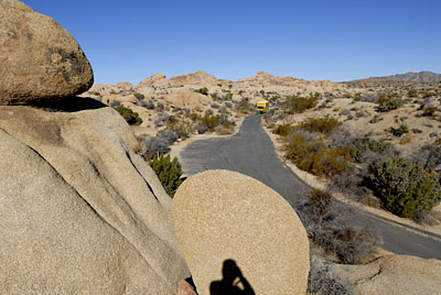moving truck at joshua tree national park