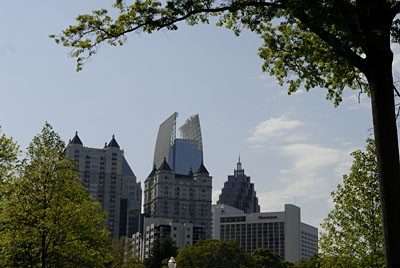 view of downtown atlanta from piedmont park
