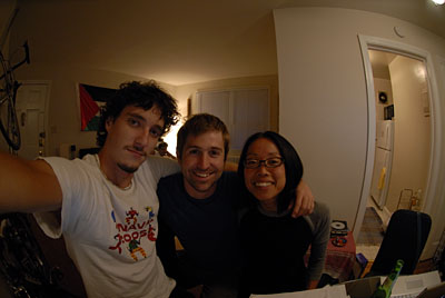 working on our lesson plan at TJ's apartment in Washington DC
