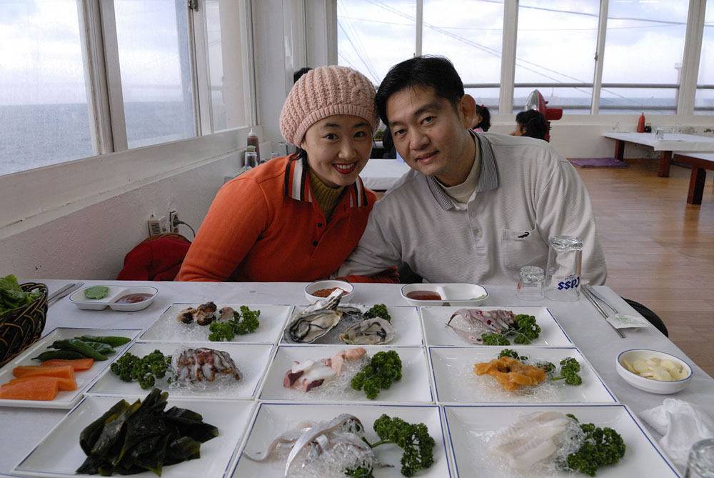 Nancy's cousin and wife in Jeju City