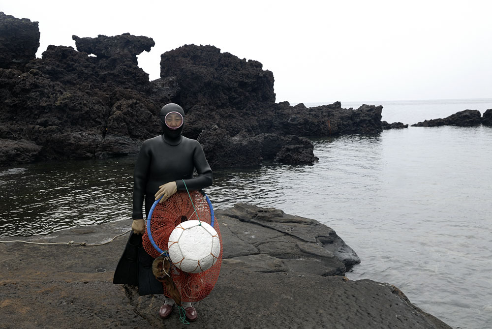 woman free diver of jeju-do