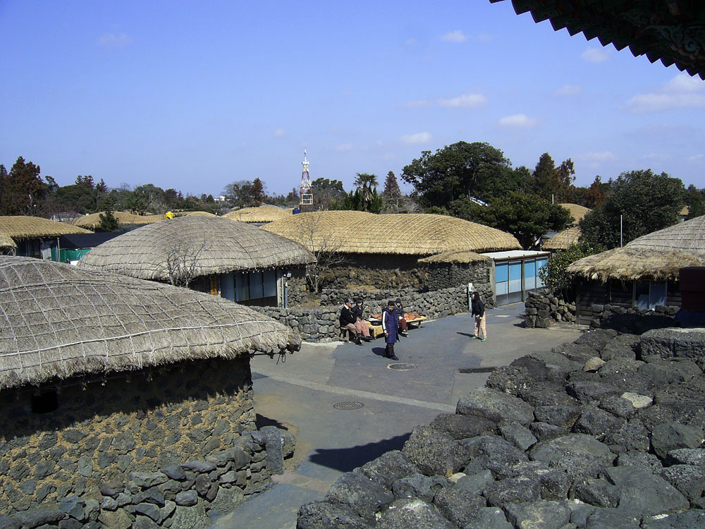View of village from on top of the wall